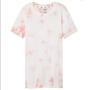 NWT Pink VS Perfect Ringer Crew Tee